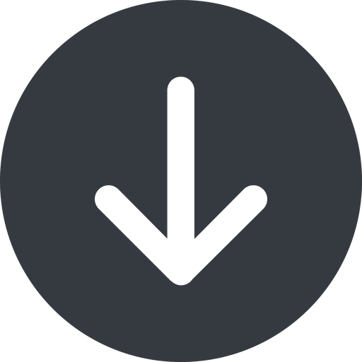 arrow-simple-wide down, solid, circle, arrow, direction, arrow-simple-wide free icon 512x512 512x512px