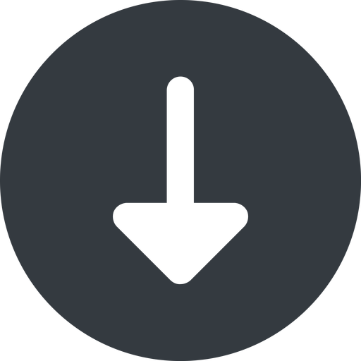 arrow-solid down, wide, solid, circle, arrow, arrow-solid free icon 512x512 512x512px