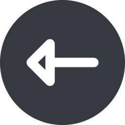 arrow-wide left, wide, solid, circle, arrow, arrow-wide free icon 256x256 256x256px