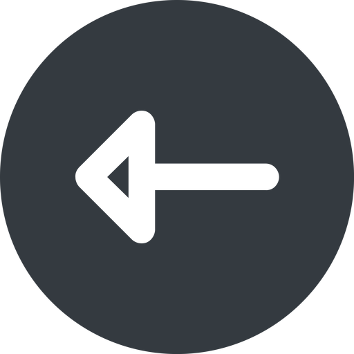 arrow-wide left, wide, solid, circle, arrow, arrow-wide free icon 512x512 512x512px