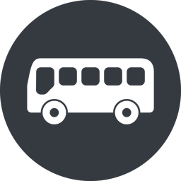 bus-side wide, solid, circle, horizontal, mirror, car, vehicle, transport, bus, side, bus-side free icon 256x256 256x256px