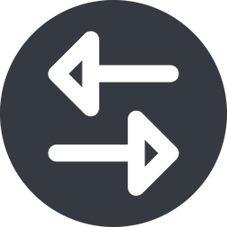 change-wide up, wide, solid, circle, horizontal, mirror, arrow, update, change, switch, select, revert, double, double-arrow, change-wide free icon 256x256 256x256px