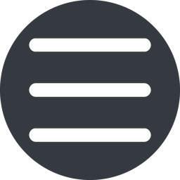 three-bars-wide up, wide, solid, circle, three, menu, collapse, bars, bar, expand, list, three-bars-wide, burger, hamburger free icon 256x256 256x256px