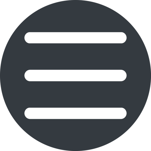 three-bars-wide up, wide, solid, circle, three, menu, collapse, bars, bar, expand, list, three-bars-wide, burger, hamburger free icon 512x512 512x512px