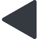 equilateral-triangle triangle, thin, left, solid, equilateral, equilateral-triangle free icon 128x128 128x128px