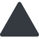 equilateral-triangle triangle, thin, up, solid, equilateral, equilateral-triangle free icon 128x128 128x128px