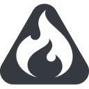 codeigniter triangle, wide, solid, equilateral, logo, brand, icon, horizontal, mirror, codeigniter, igniter, code, php, framework, flame, fire free icon 128x128 128x128px