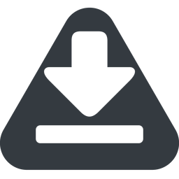 download-solid triangle, up, solid, equilateral, download, downloaded, downloading, download-solid free icon 256x256 256x256px