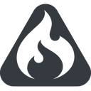 codeigniter triangle, wide, solid, equilateral, logo, brand, icon, codeigniter, igniter, code, php, framework, flame, fire free icon 128x128 128x128px