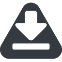 download-solid triangle, up, solid, equilateral, download, downloaded, downloading, download-solid free icon 128x128 128x128px