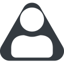 user-solid triangle, wide, solid, equilateral, user, man, woman, person, user-solid free icon 128x128 128x128px