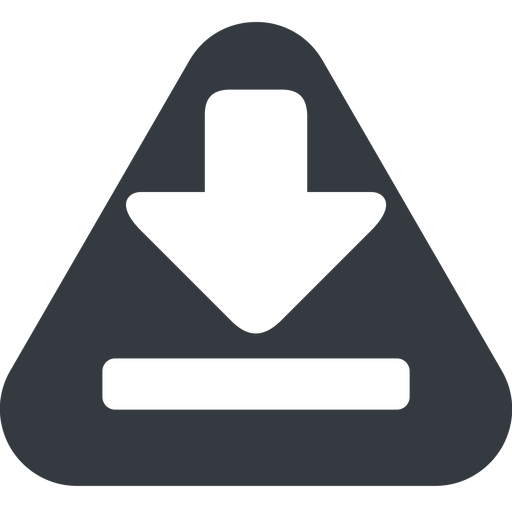 download-solid triangle, up, solid, equilateral, download, downloaded, downloading, download-solid free icon 512x512 512x512px