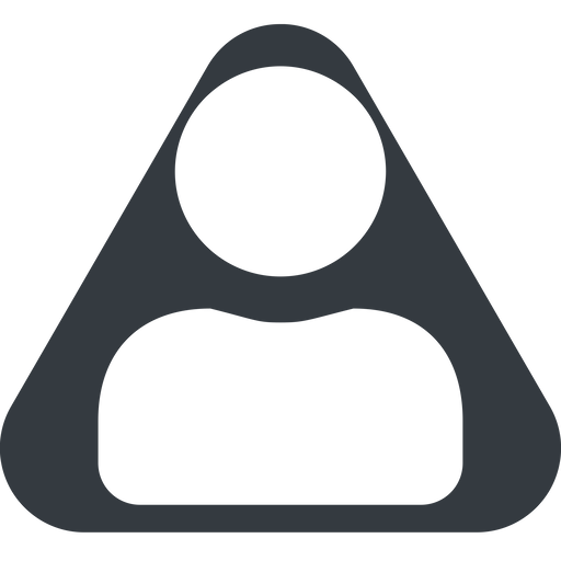 user-solid triangle, wide, solid, equilateral, user, man, woman, person, user-solid free icon 512x512 512x512px