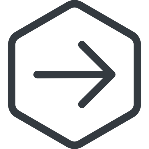 arrow-simple line, right, hexagon, arrow, direction, arrow-simple free icon 512x512 512x512px