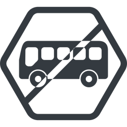 bus-side line, normal, wide, hexagon, horizontal, mirror, car, vehicle, transport, prohibited, bus, side, bus-side free icon 256x256 256x256px