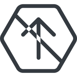 arrow-simple line, up, hexagon, arrow, direction, prohibited, arrow-simple free icon 256x256 256x256px