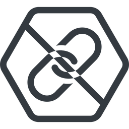 link line, hexagon, hypertext, prohibited, link, url, href, chain free icon 256x256 256x256px