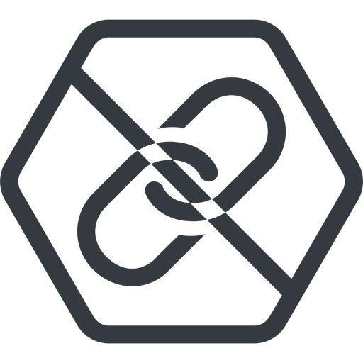 link line, hexagon, hypertext, prohibited, link, url, href, chain free icon 512x512 512x512px