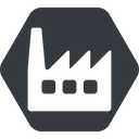 factory-window normal, solid, hexagon, horizontal, mirror, factory, industry, window, factory-window free icon 128x128 128x128px