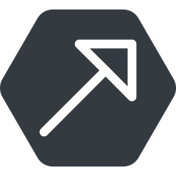 arrow-corner up, solid, hexagon, arrow, link, url, href, corner, arrow-corner free icon 256x256 256x256px