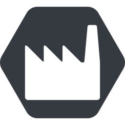 factory normal, solid, hexagon, factory, industry free icon 256x256 256x256px