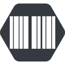 barcode up, normal, solid, hexagon, barcode free icon 128x128 128x128px