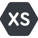 extra-small normal, solid, hexagon, extra, small, xs, size, extra-small free icon 128x128 128x128px