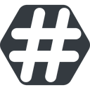 hashtag-solid normal, solid, hexagon, social, hashtag, hashtag-solid free icon 128x128 128x128px