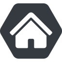 home-small-solid normal, solid, hexagon, small, home, house, home-small, home-small-solid free icon 128x128 128x128px