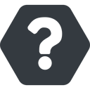 question-mark normal, solid, hexagon, question, mark, question-mark, help free icon 128x128 128x128px