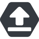 upload-solid normal, solid, hexagon, upload, uploaded, uploading, upload-solid free icon 128x128 128x128px