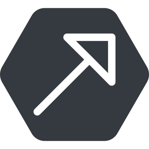 arrow-corner up, solid, hexagon, arrow, link, url, href, corner, arrow-corner free icon 512x512 512x512px