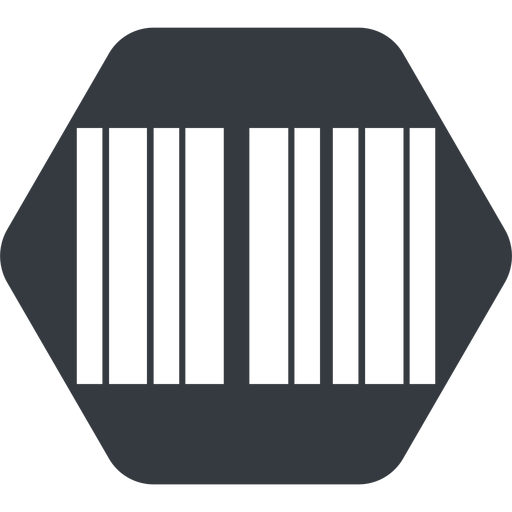 barcode up, normal, solid, hexagon, barcode free icon 512x512 512x512px