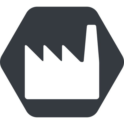 factory normal, solid, hexagon, factory, industry free icon 512x512 512x512px