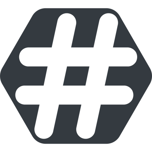 hashtag-solid normal, solid, hexagon, social, hashtag, hashtag-solid free icon 512x512 512x512px