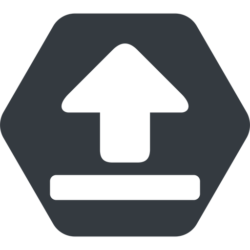 upload-solid normal, solid, hexagon, upload, uploaded, uploading, upload-solid free icon 512x512 512x512px