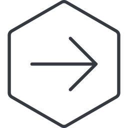 arrow-simple-thin thin, line, right, hexagon, arrow, direction, arrow-simple-thin free icon 256x256 256x256px
