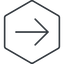 arrow-simple-thin thin, line, right, hexagon, arrow, direction, arrow-simple-thin free icon 64x64 64x64px