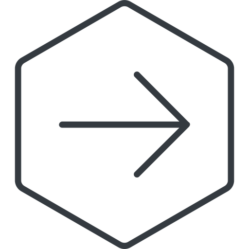 arrow-simple-thin thin, line, right, hexagon, arrow, direction, arrow-simple-thin free icon 512x512 512x512px