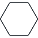 hexagon thin, line, up, hexagon free icon 128x128 128x128px