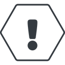 warning-solid thin, line, hexagon, mark, warning, exclamation, warning-solid, alert free icon 128x128 128x128px