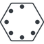 spinner-thin line, up, hexagon, spinner, spin, wait, load, loading, spinner-thin, loader free icon 64x64 64x64px
