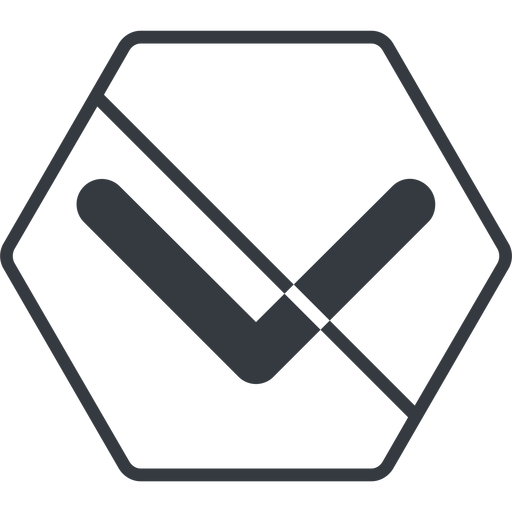 chevron-solid thin, line, down, hexagon, arrow, direction, prohibited, chevron, chevron-solid free icon 512x512 512x512px
