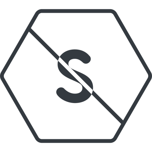 small thin, line, hexagon, small, size, s, prohibited free icon 512x512 512x512px