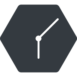 clock-thin thin, down, solid, hexagon, clock, time, meeting, hour, minute, hours, minutes, clock-thin free icon 256x256 256x256px