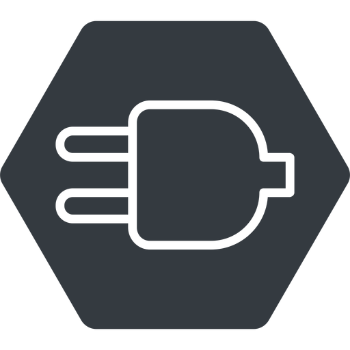 plug-thin thin, down, solid, hexagon, electricity, plug, charge, charger, electric, plug-thin, electrics, electrical free icon 512x512 512x512px