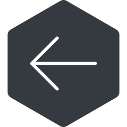 arrow-simple-thin thin, left, solid, hexagon, arrow, direction, arrow-simple-thin free icon 256x256 256x256px