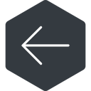 arrow-simple-thin thin, left, solid, hexagon, arrow, direction, arrow-simple-thin free icon 128x128 128x128px