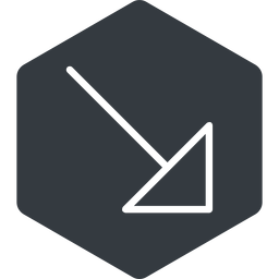 arrow-corner-thin thin, right, solid, hexagon, arrow, corner, arrow-corner-thin free icon 256x256 256x256px
