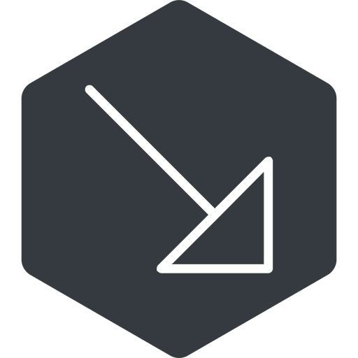 arrow-corner-thin thin, right, solid, hexagon, arrow, corner, arrow-corner-thin free icon 512x512 512x512px